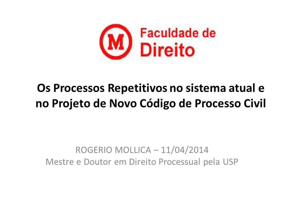 Mestre e Doutor em Direito Processual pela USP