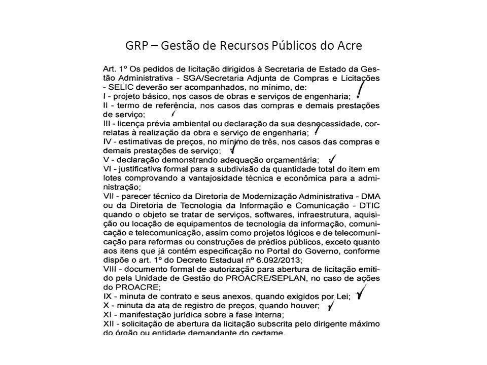 GRP – Gestão de Recursos Públicos do Acre