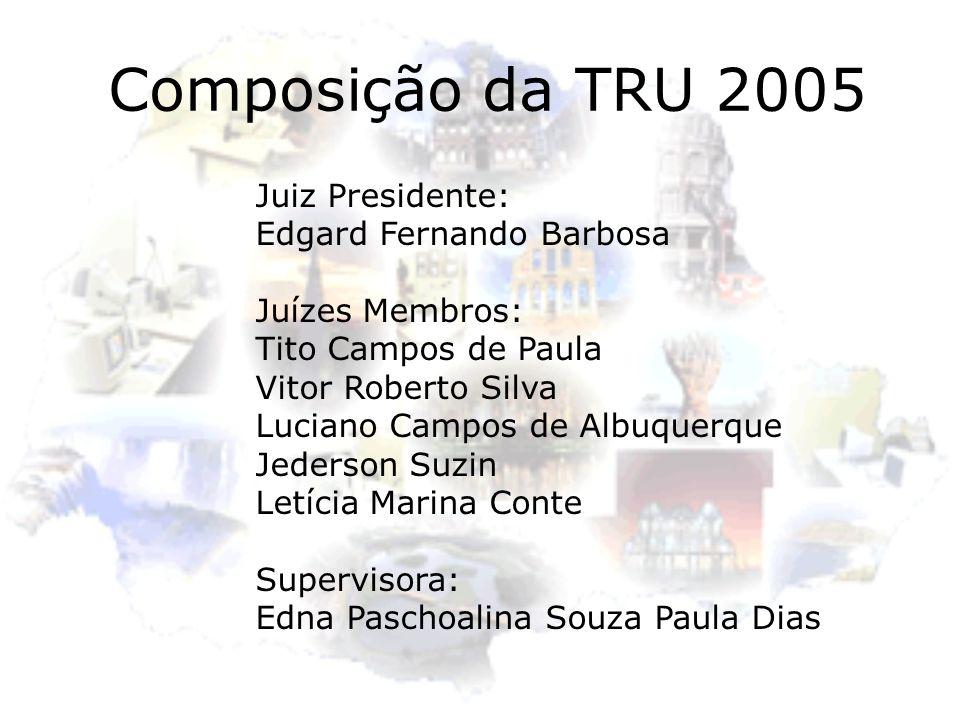 Composição da TRU 2005 Juiz Presidente: Edgard Fernando Barbosa