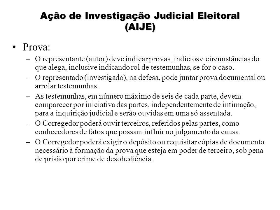 Ação de Investigação Judicial Eleitoral (AIJE)