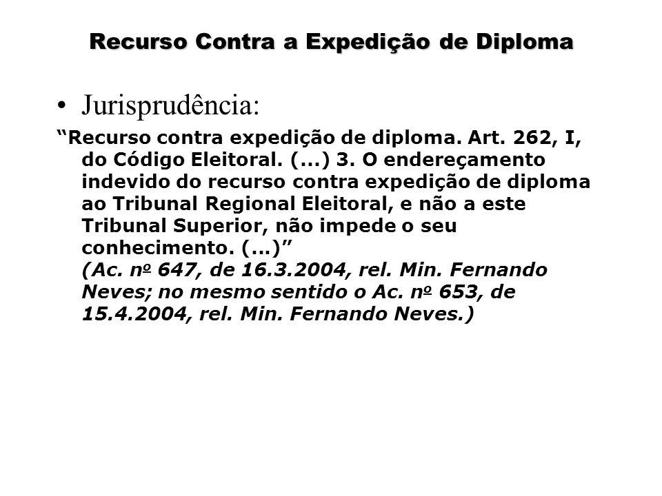 Recurso Contra a Expedição de Diploma