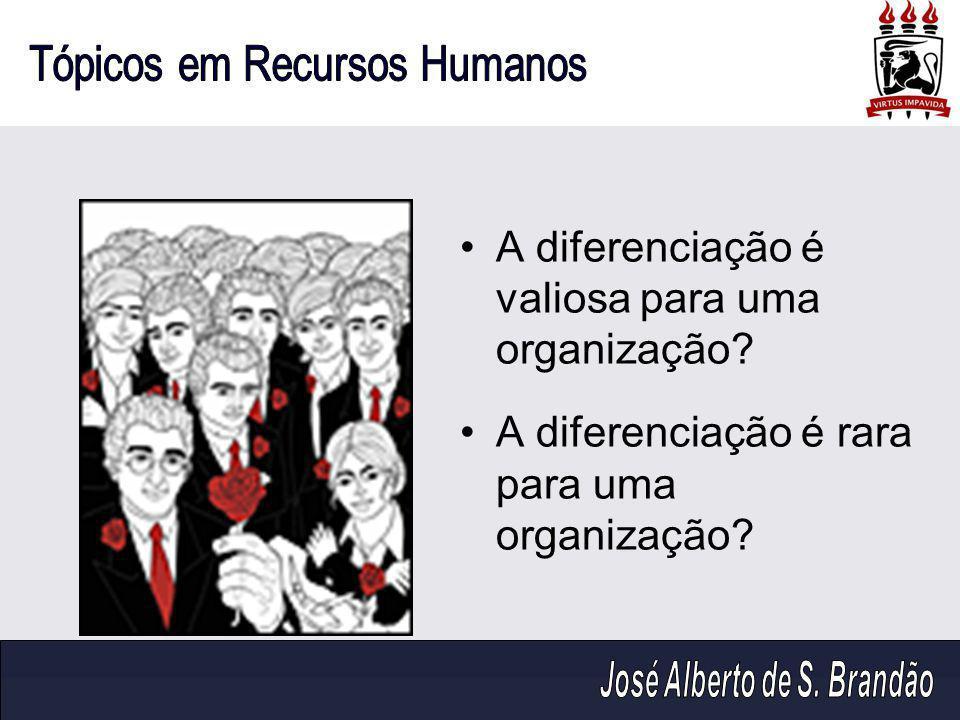 A diferenciação é valiosa para uma organização