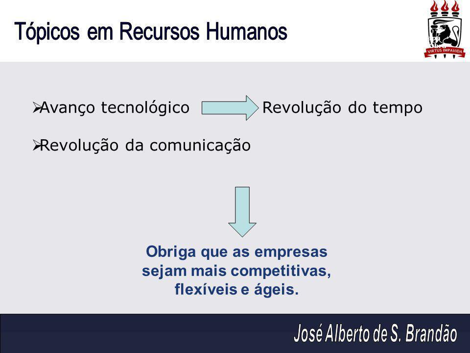 Obriga que as empresas sejam mais competitivas, flexíveis e ágeis.