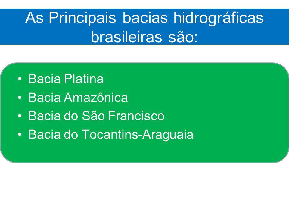 As Principais bacias hidrográficas brasileiras são: