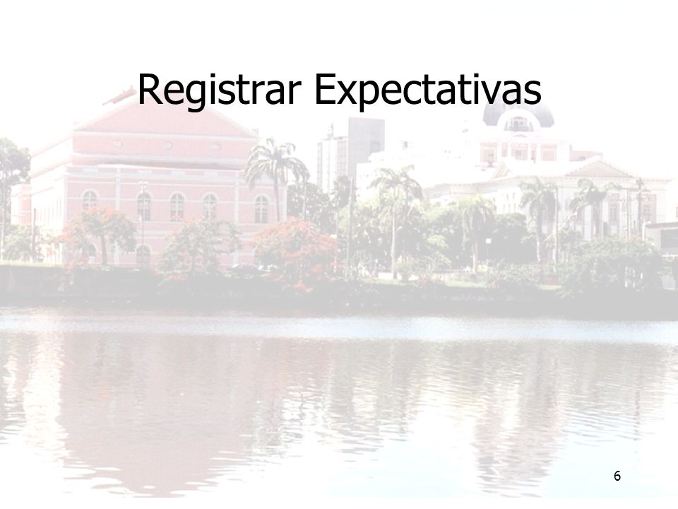 Registrar Expectativas