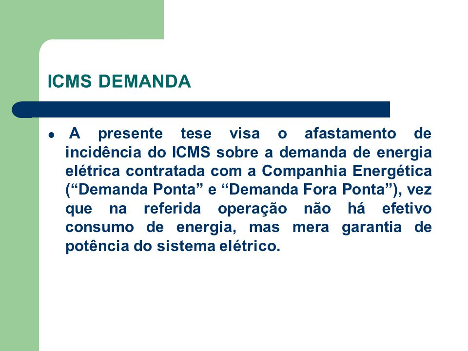 ICMS DEMANDA
