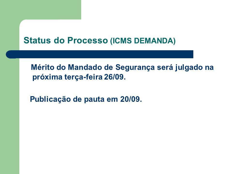 Status do Processo (ICMS DEMANDA)