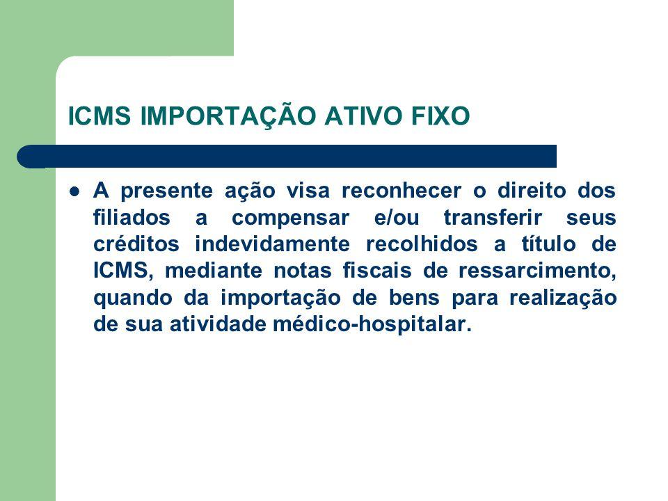 ICMS IMPORTAÇÃO ATIVO FIXO