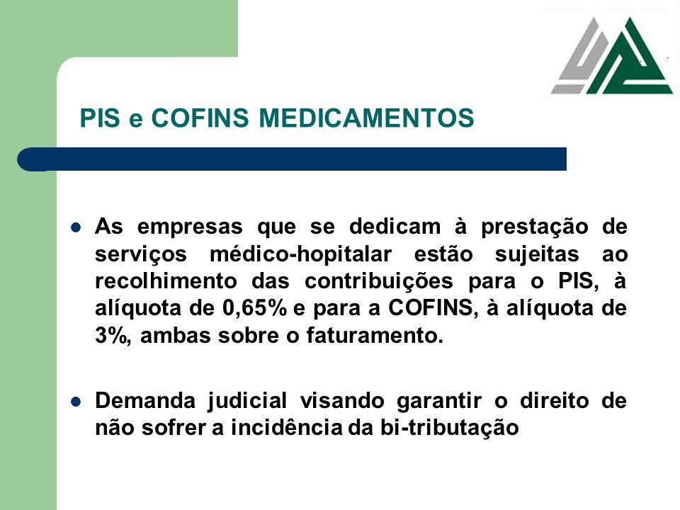 PIS e COFINS MEDICAMENTOS