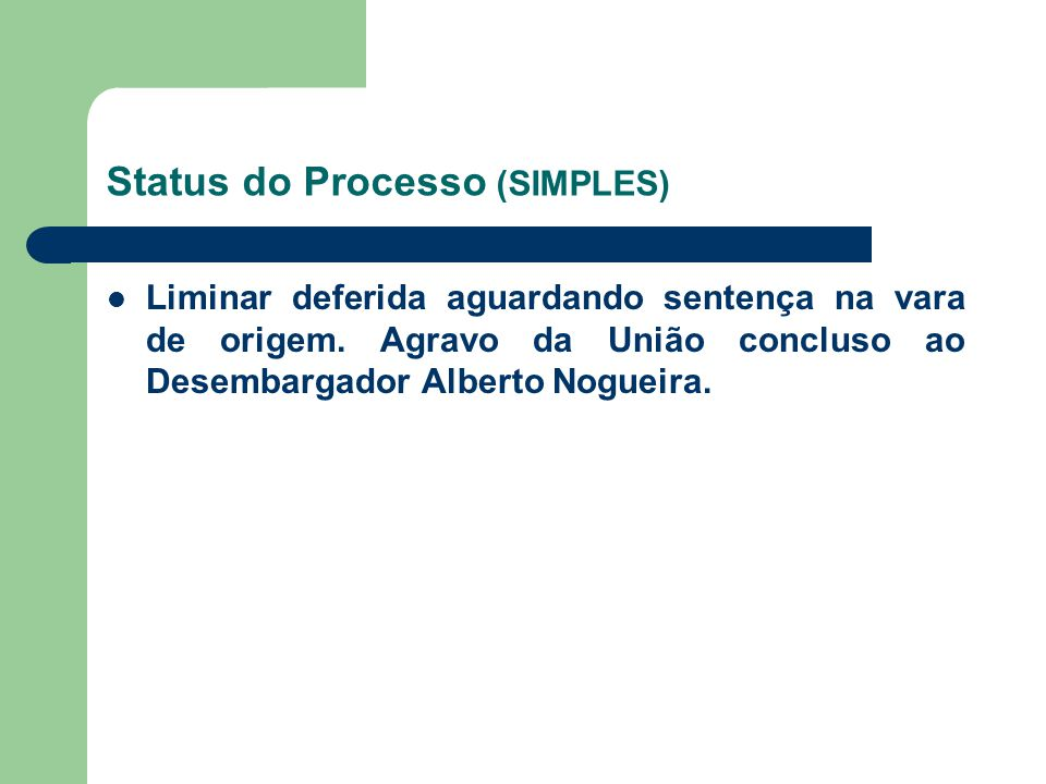 Status do Processo (SIMPLES)