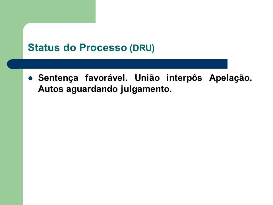 Status do Processo (DRU)