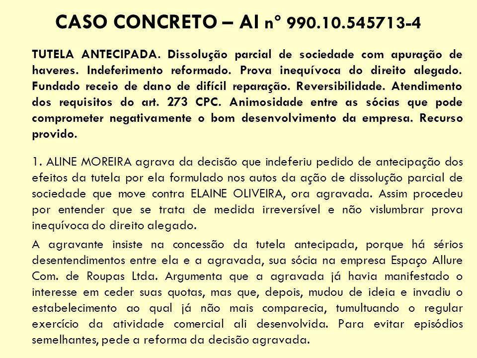 CASO CONCRETO – AI n° 990.10.545713-4