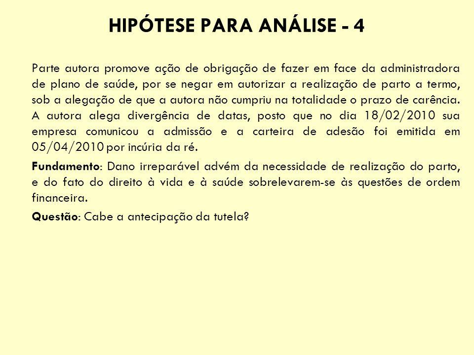 HIPÓTESE PARA ANÁLISE - 4