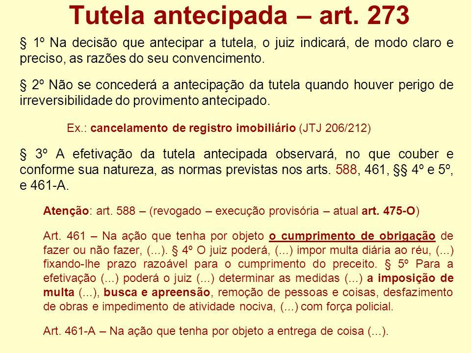 Tutela antecipada – art. 273