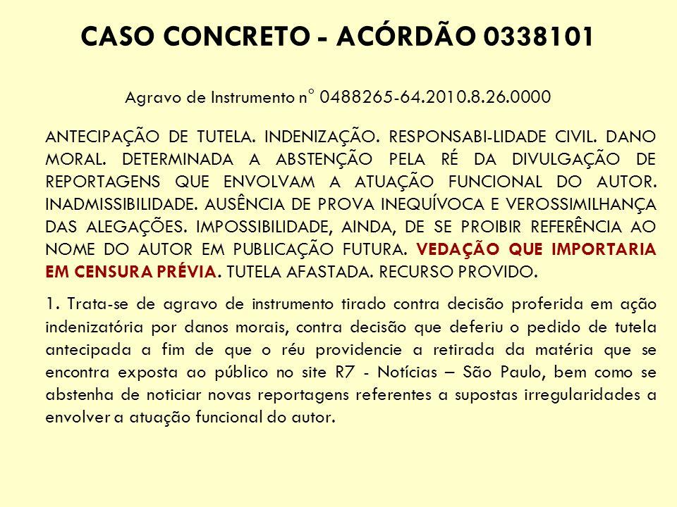 CASO CONCRETO - ACÓRDÃO 0338101
