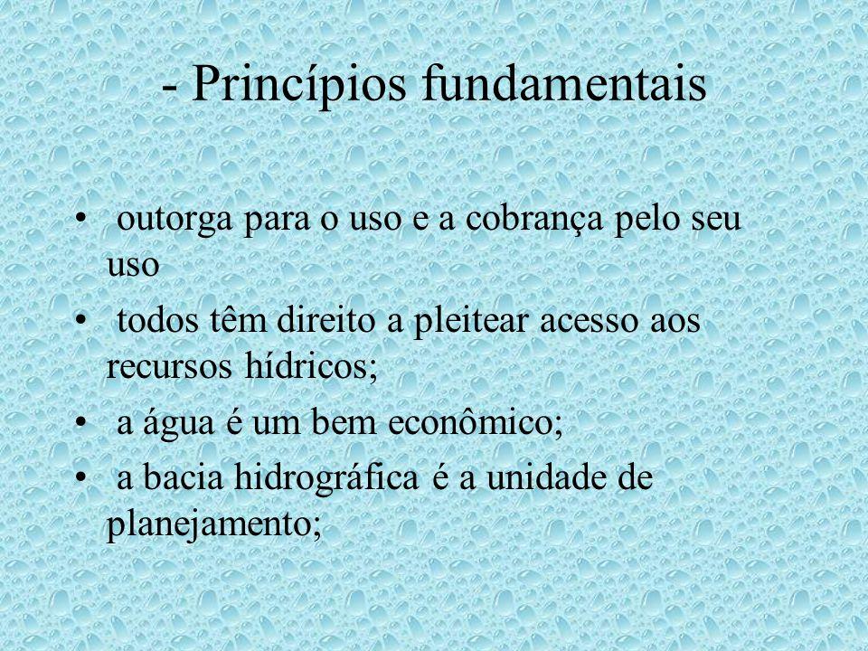 - Princípios fundamentais