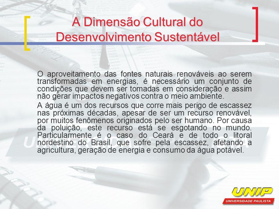 A Dimensão Cultural do Desenvolvimento Sustentável