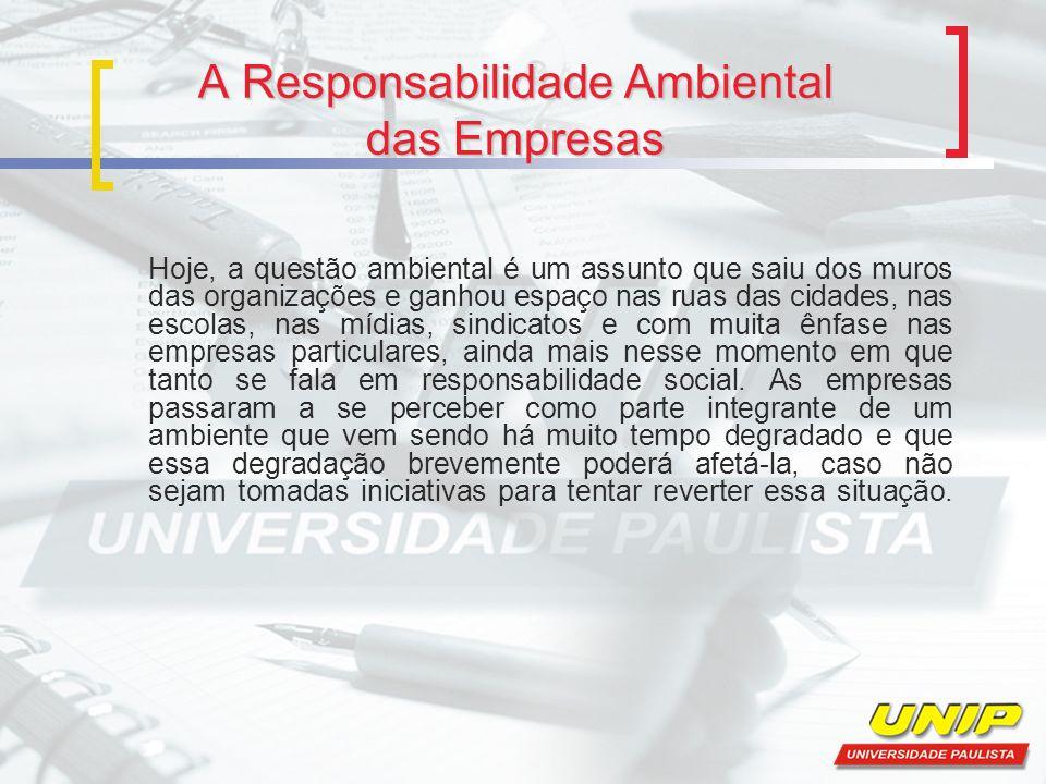A Responsabilidade Ambiental das Empresas