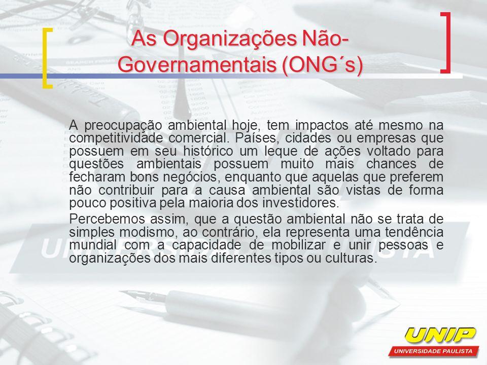 As Organizações Não-Governamentais (ONG´s)
