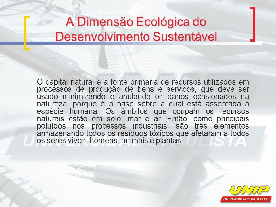 A Dimensão Ecológica do Desenvolvimento Sustentável