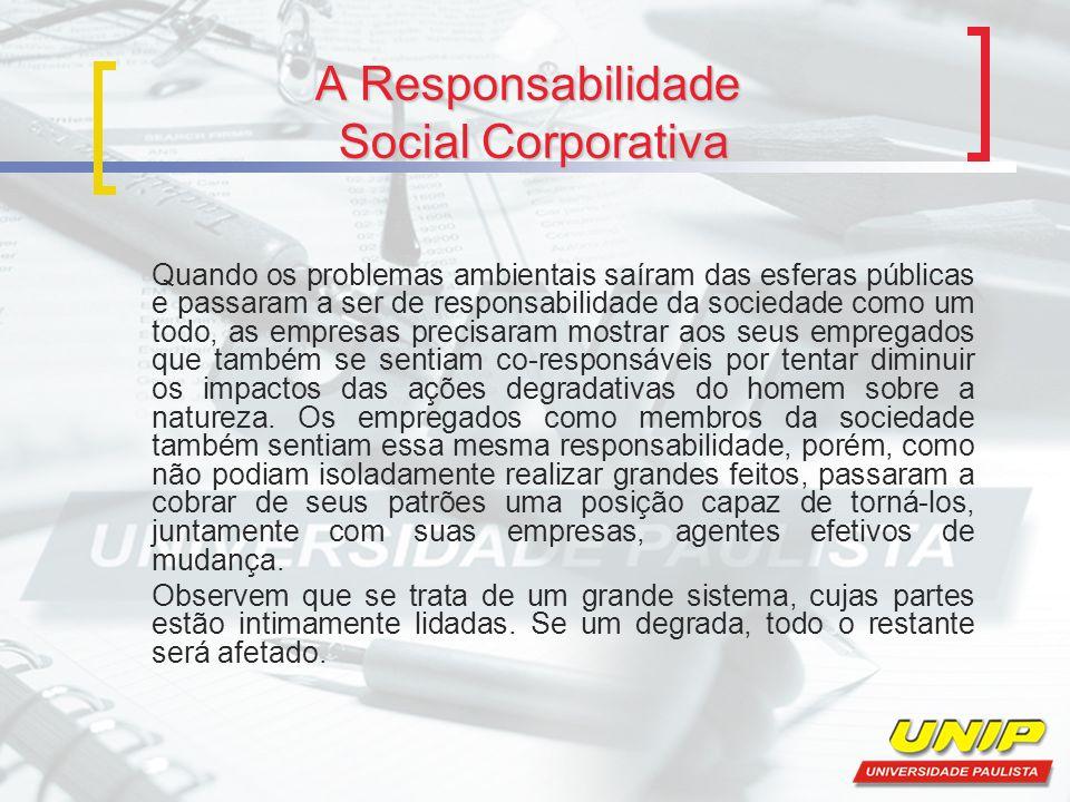 A Responsabilidade Social Corporativa