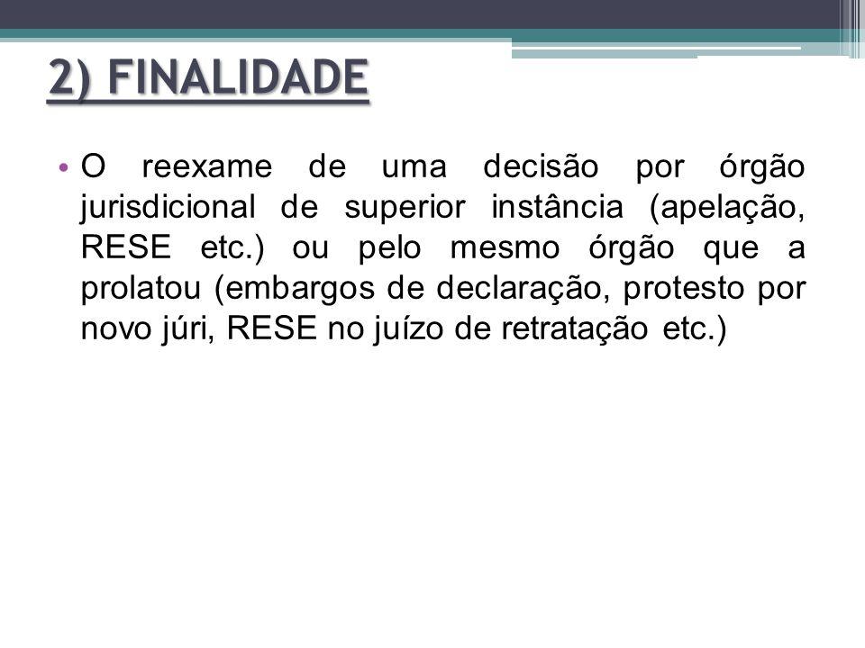 2) FINALIDADE