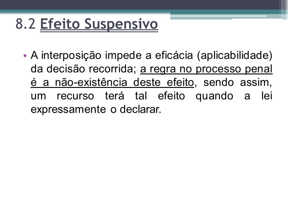 8.2 Efeito Suspensivo