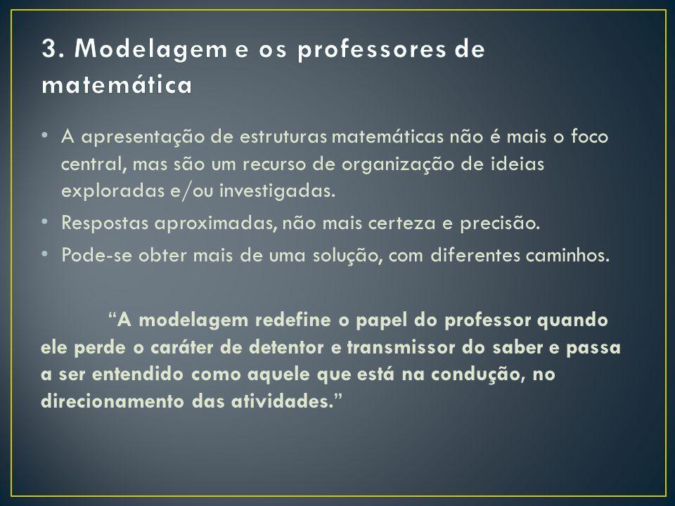 3. Modelagem e os professores de matemática