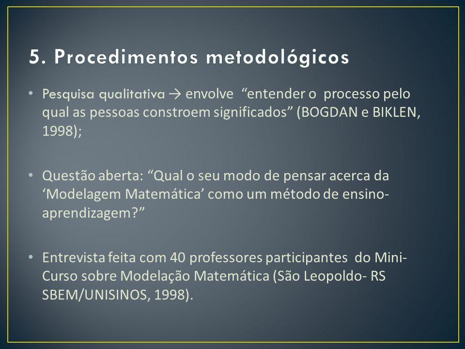 5. Procedimentos metodológicos