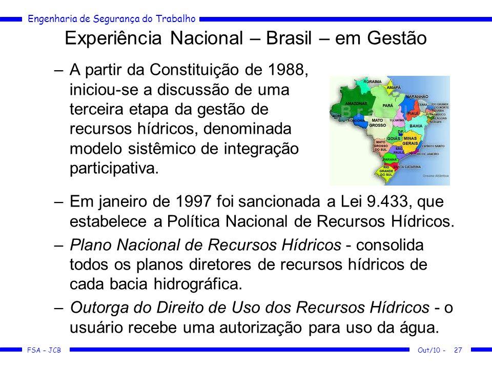 Experiência Nacional – Brasil – em Gestão