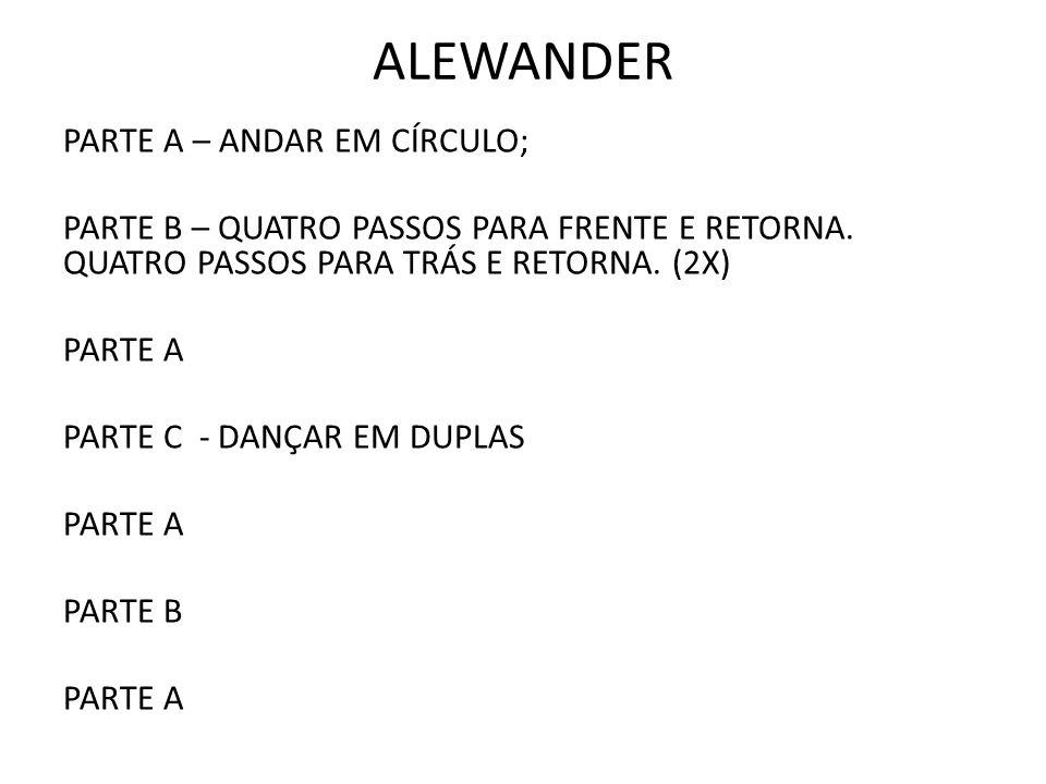 ALEWANDER PARTE A – ANDAR EM CÍRCULO;