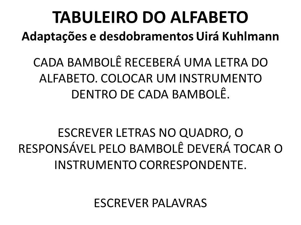 TABULEIRO DO ALFABETO Adaptações e desdobramentos Uirá Kuhlmann