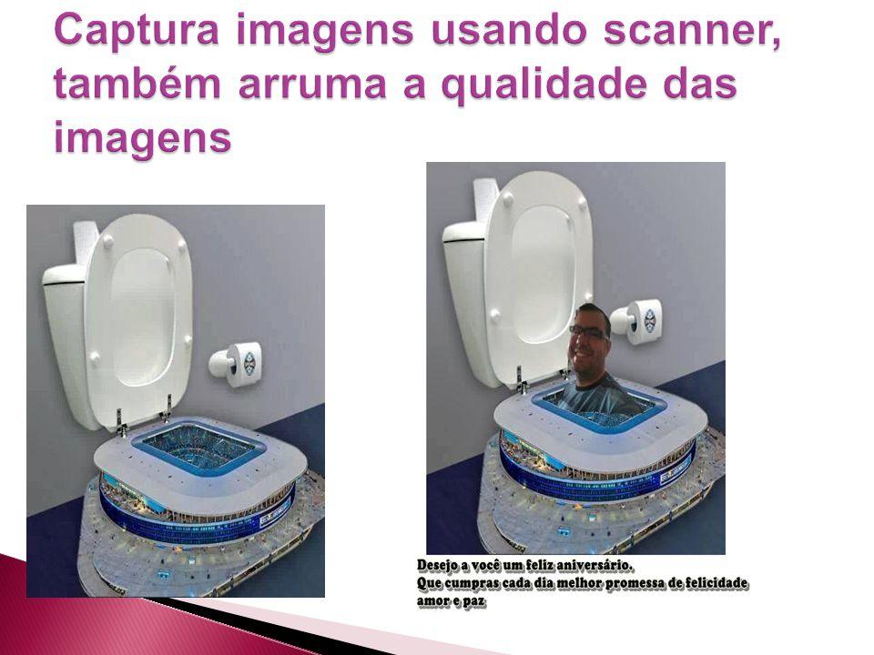 Captura imagens usando scanner, também arruma a qualidade das imagens