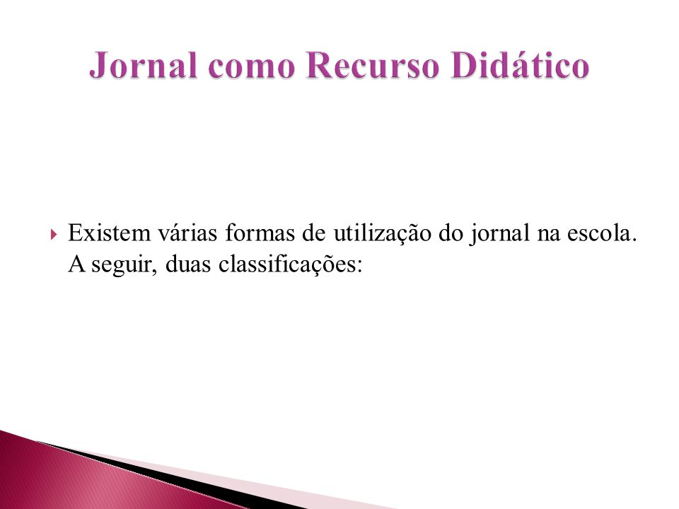 Jornal como Recurso Didático