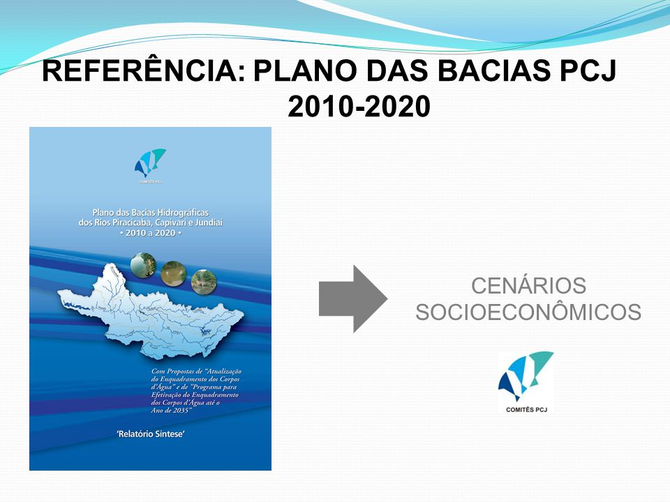 REFERÊNCIA: PLANO DAS BACIAS PCJ 2010-2020