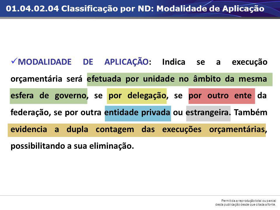 01.04.02.04 Classificação por ND: Modalidade de Aplicação