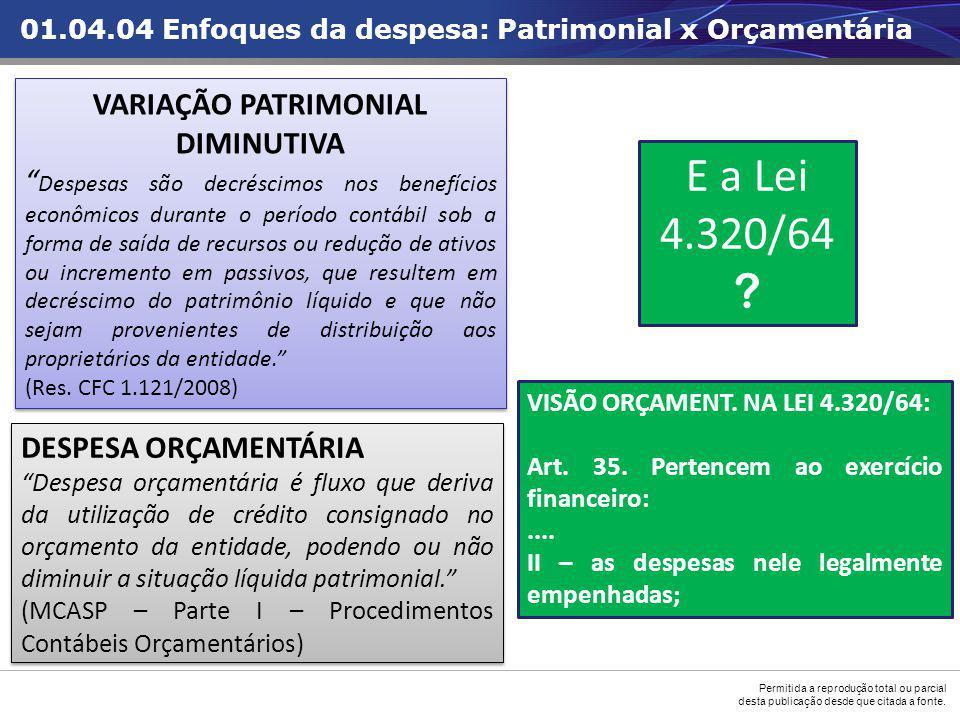 VARIAÇÃO PATRIMONIAL DIMINUTIVA