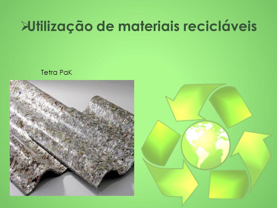 Utilização de materiais recicláveis