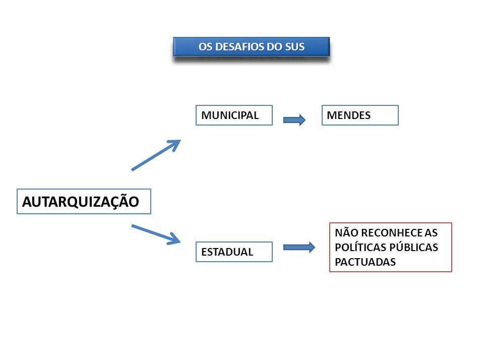 AUTARQUIZAÇÃO OS DESAFIOS DO SUS MUNICIPAL MENDES