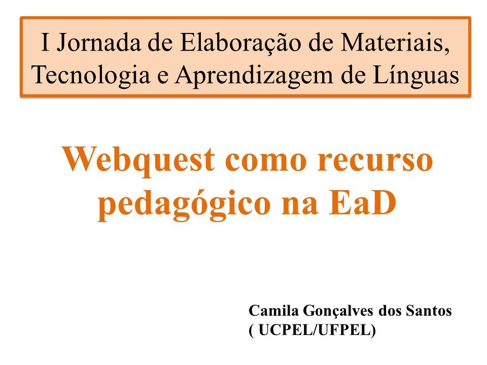 Webquest como recurso pedagógico na EaD