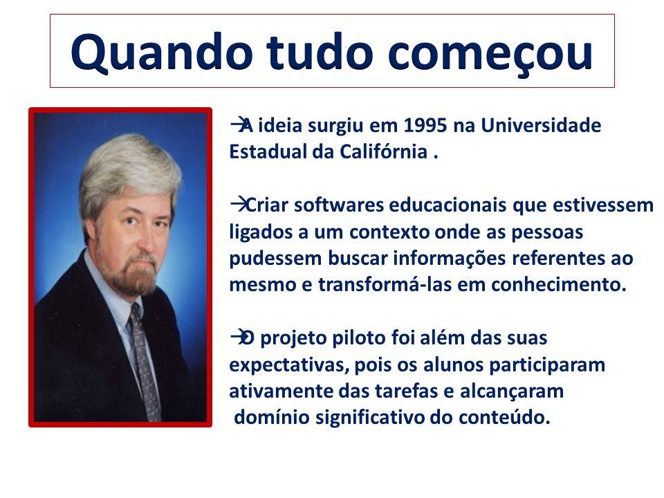 Quando tudo começou A ideia surgiu em 1995 na Universidade Estadual da Califórnia .