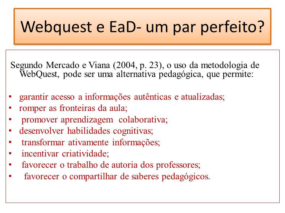 Webquest e EaD- um par perfeito