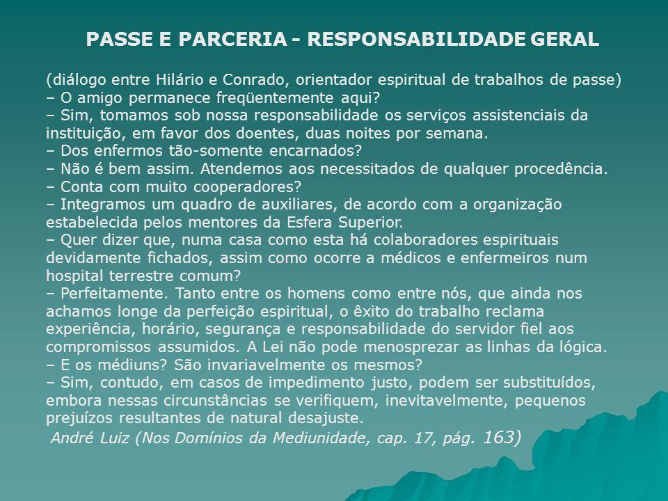 PASSE E PARCERIA - RESPONSABILIDADE GERAL
