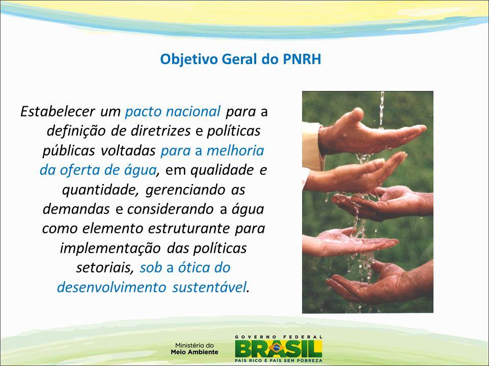 Objetivo Geral do PNRH