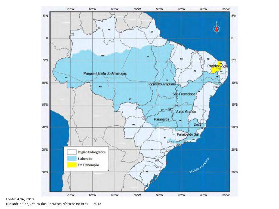 Fonte: ANA, 2013 (Relatório Conjuntura dos Recursos Hídricos no Brasil – 2013)