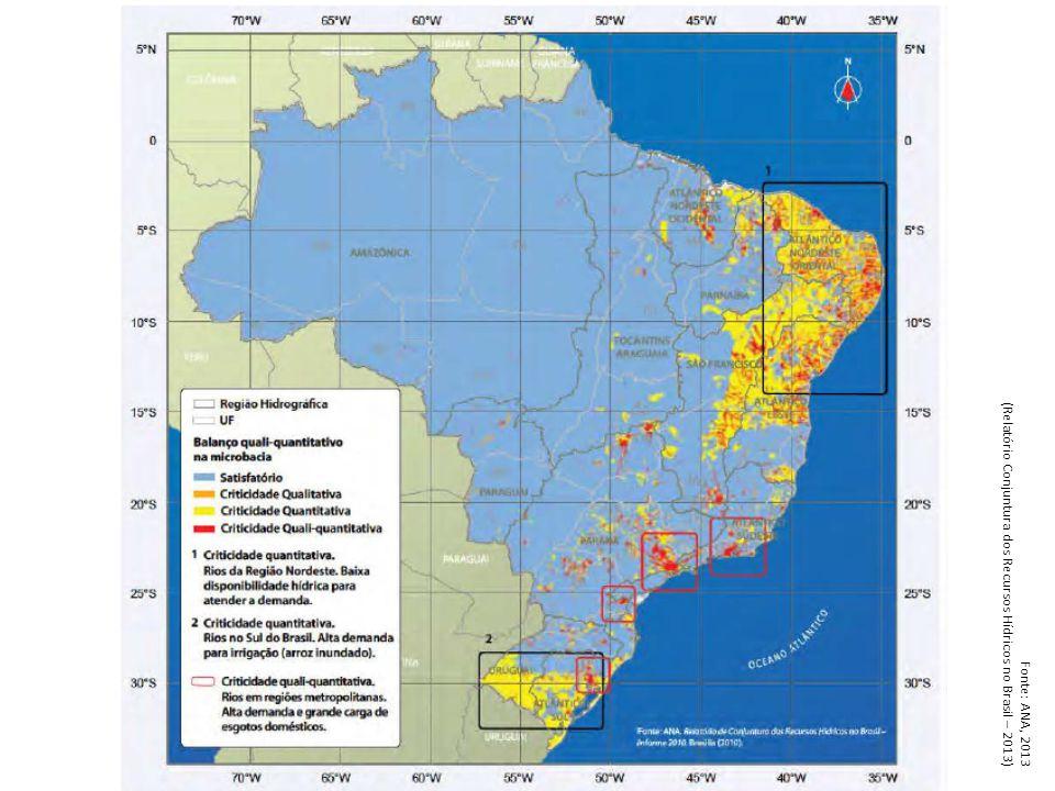 (Relatório Conjuntura dos Recursos Hídricos no Brasil – 2013)
