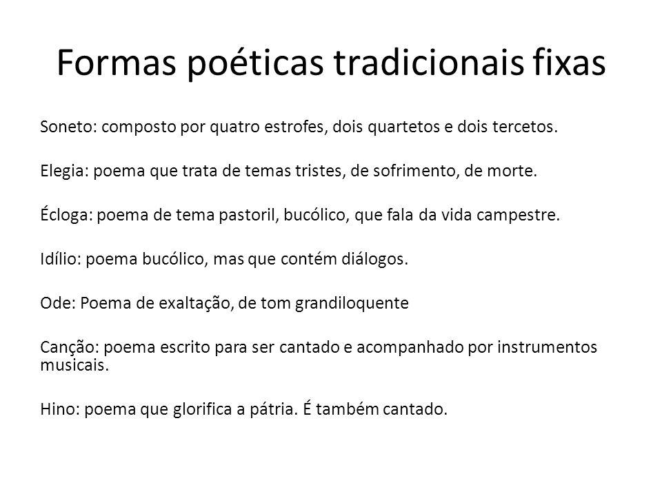Formas poéticas tradicionais fixas