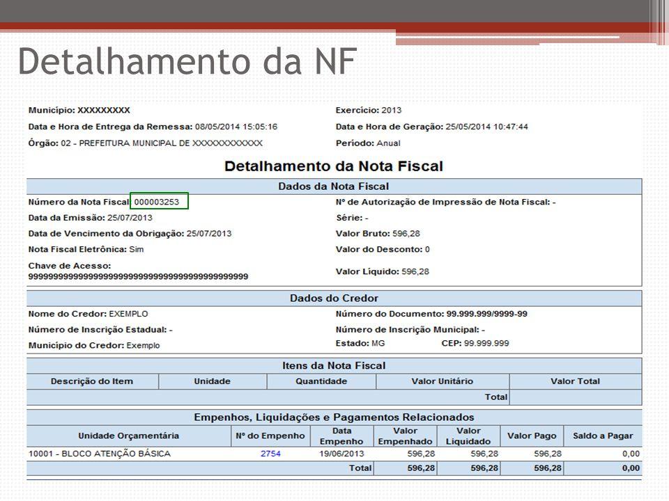 Detalhamento da NF