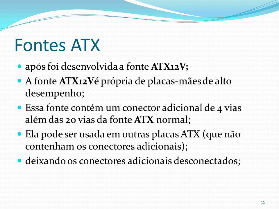 Fontes ATX após foi desenvolvida a fonte ATX12V;