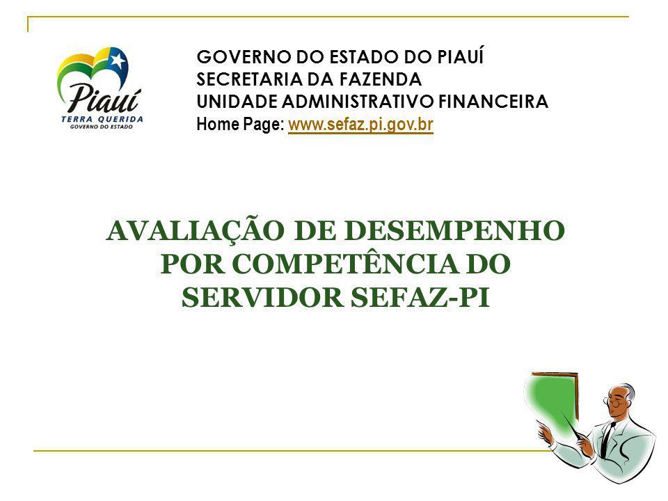 AVALIAÇÃO DE DESEMPENHO POR COMPETÊNCIA DO SERVIDOR SEFAZ-PI